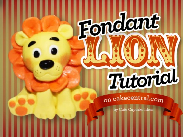 fondant lion tutorial part 2