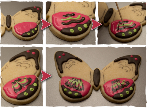 Butterfly Cookies Step 2