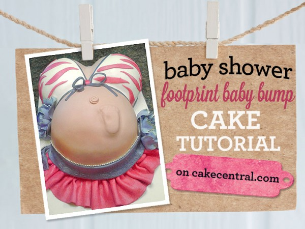 pregnant-belly-footprint-cake-tutorial