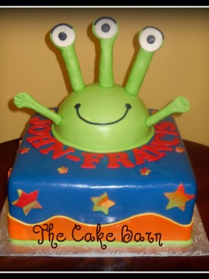 Alien Birthday Cake