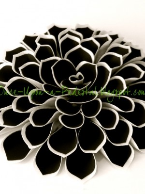 Black and White Fantasy Flower