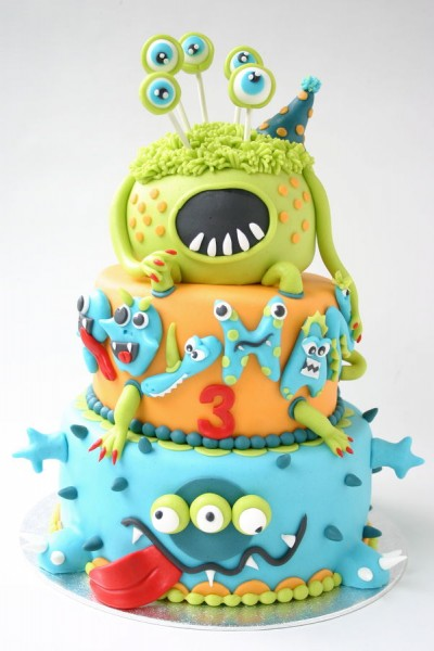 cute monster cake