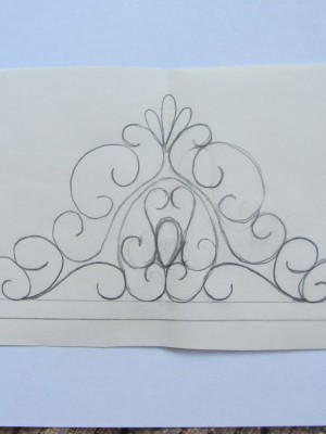 tiara template for fondant