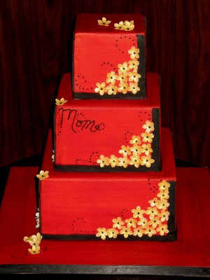 Red Square birthday cake