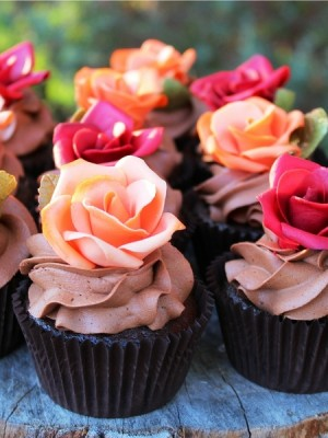 Rose cupcakes for Fall