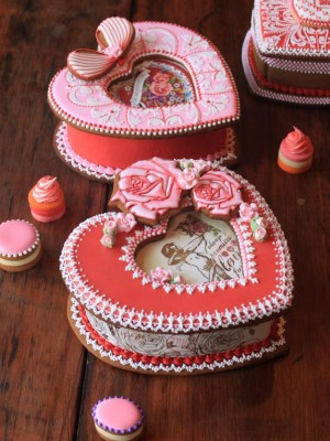 Valentine's Day Cookie Boxes by Julia M. Usher