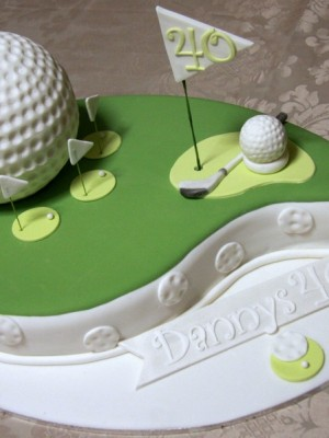 40th Birthday Golf cake