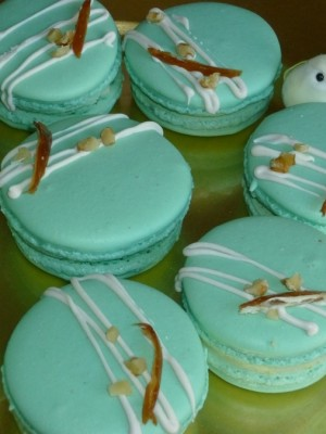 French Macarons w/ Rose water and Orange buttercream filling
