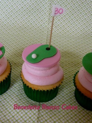 Girly Golf Cupcakes