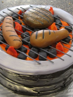 Labor Day Cookout Grill Cake