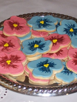 Pansy cookies
