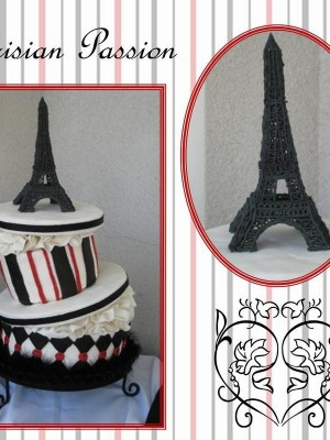 Whimsical Hat box with Eiffel Tower