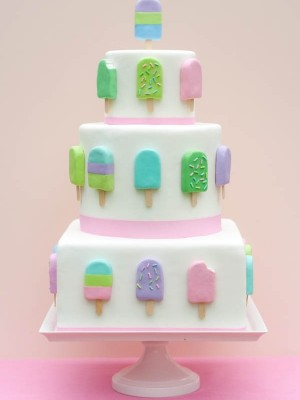 Ice cream pop cake!