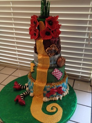 Wizard of Oz retirement cake
