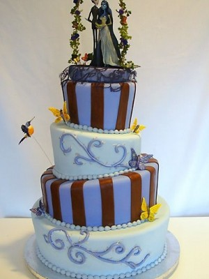 """""""The Corpse Bride"""" Topsy Turvey Cake"""