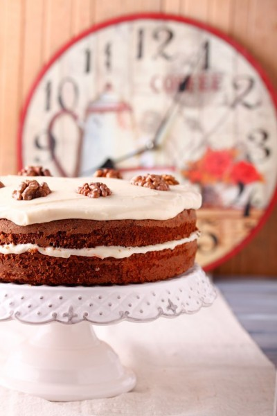 Spiced Walnut Carrot Cake Recipe
