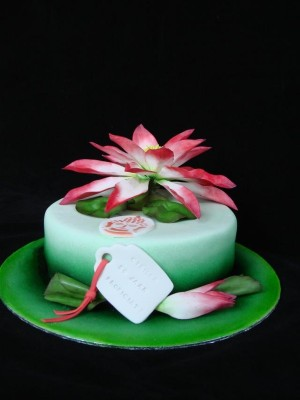 Cake with a Lotus
