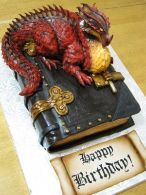 Dragon on a Book cake 3.0