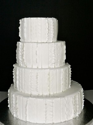 Textured Fondant Wedding Cake