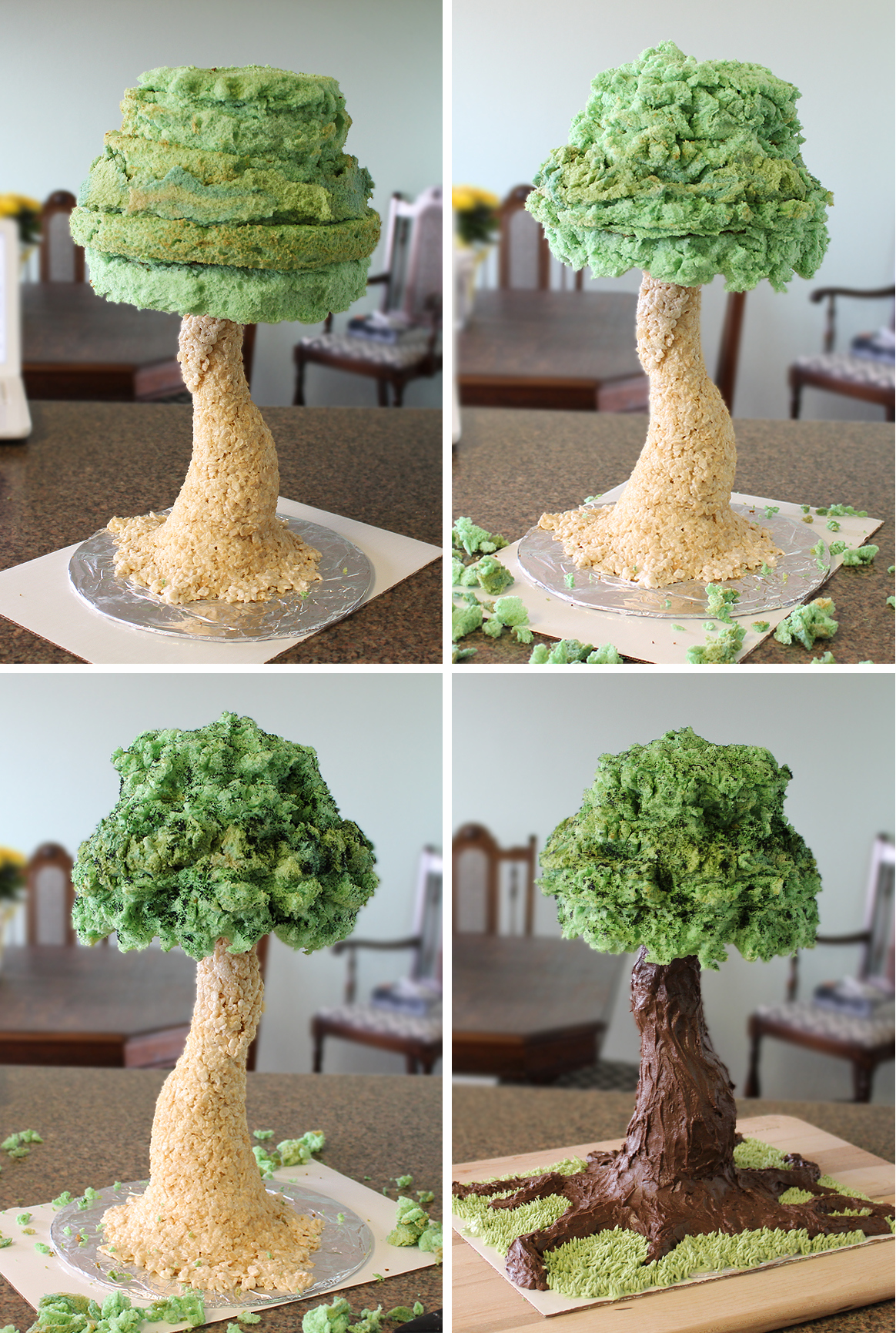 Sculpted Tree Cake Tutorial Cakecentral Com