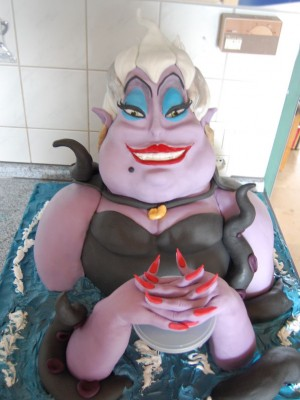 Ursula the Sea Witch made for a German Cake Contest