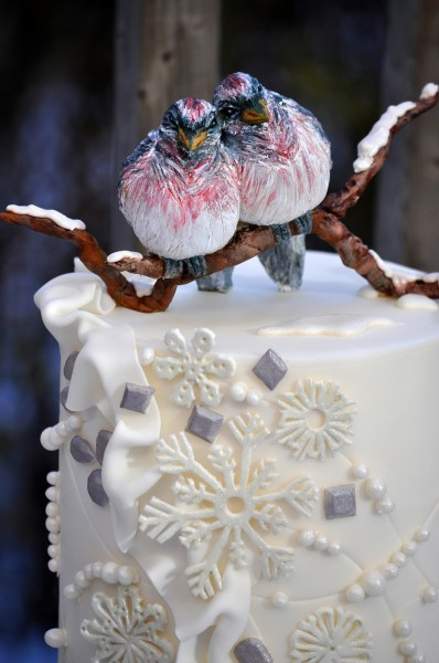 How to Sculpt Modeling Chocolate Winter Lovebirds ...