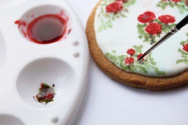Hand Painted Vintage Rose Cookie Tutorial Cakecentral Com
