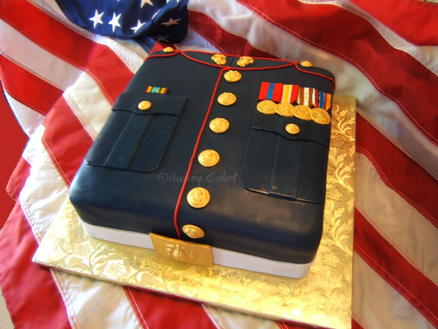 Marine Dress Uniform Cake