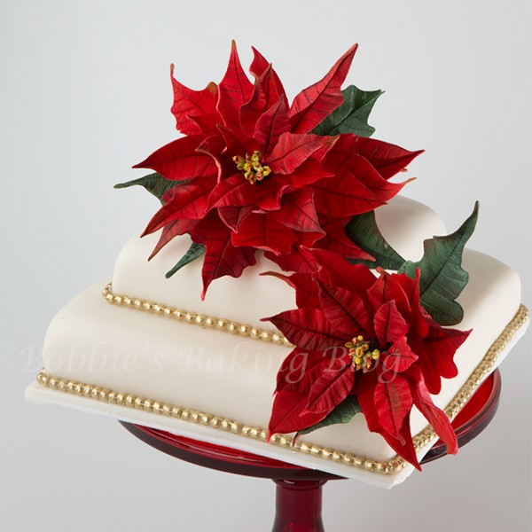 fondant poinsettias