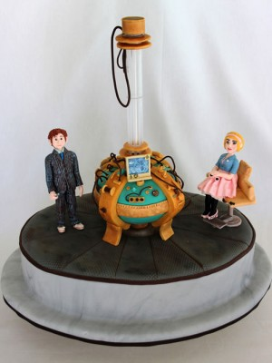Doctor Who birthday cake that glows in the dark