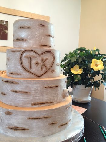 wedding cake that looks like tree bark top birch bark cakes cakecentral 26249