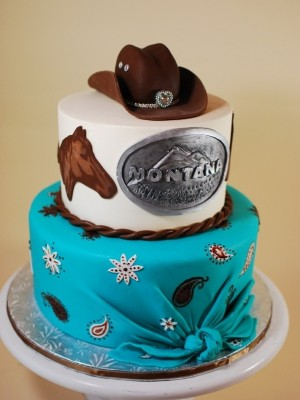 Cow Girl Birthday Cake