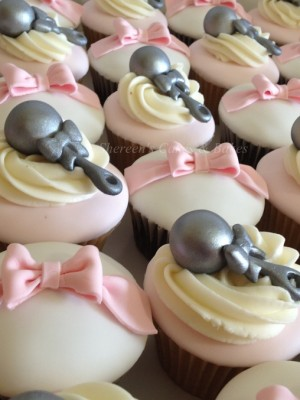 Rattles & Bows Cupcakes