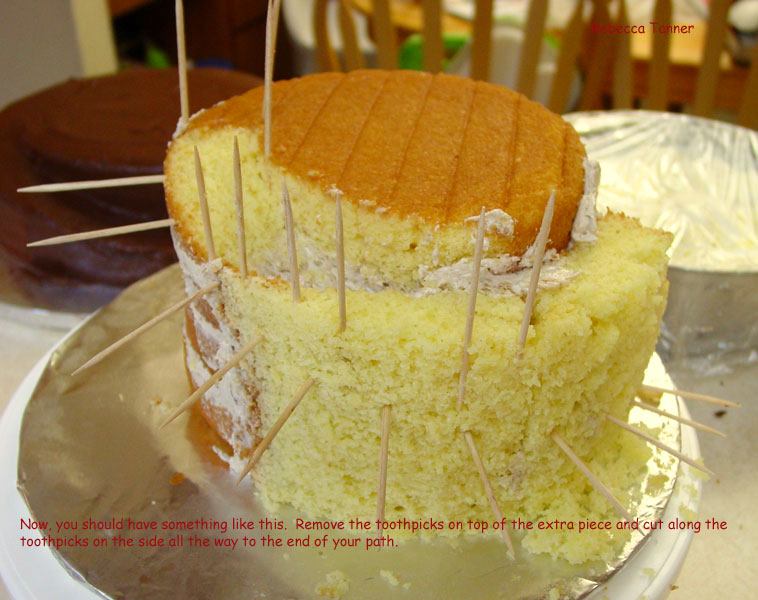 How To Carve Cake To Make It Spiral Up Mummy M S