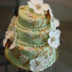 Butterflies Butterfly Cake with Dogwood Blossoms