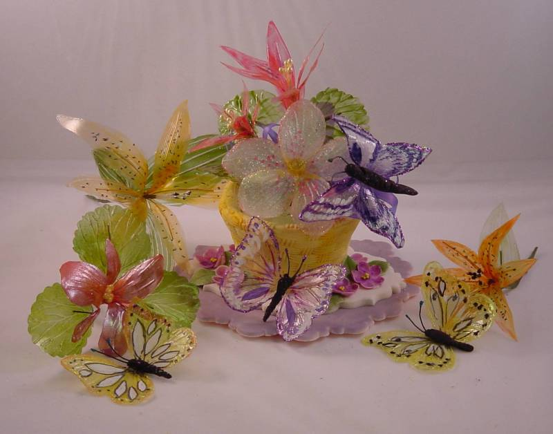 How to make gelatin flowers and bows cakecentral