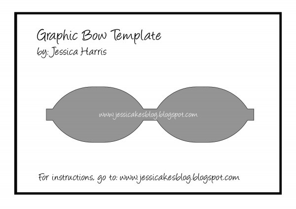 Graphic Bow Template