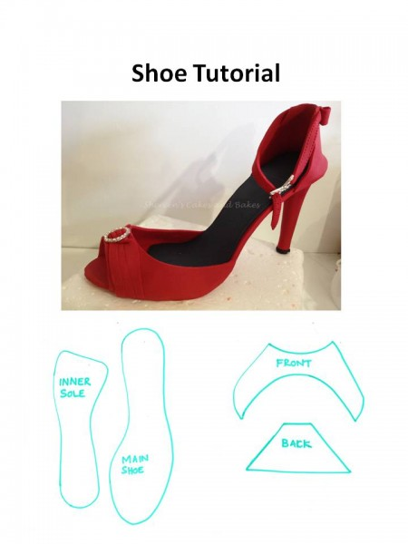 high heel shoe template craft - modelling paste shoe