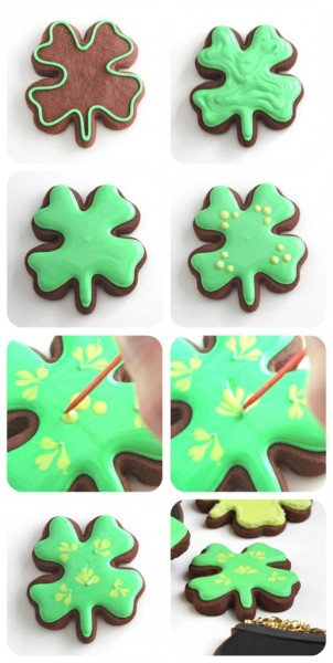 four-leaf-clover-cookie-pictorial
