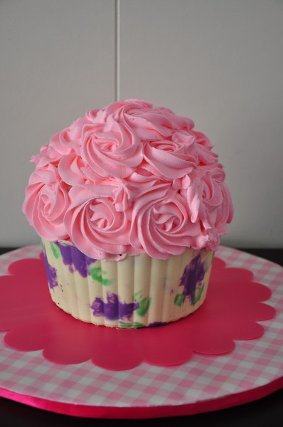 Printed Giant Cupcake Shell Tutorial Cakecentral