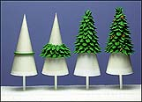 Ice Cream Cone Trees (Great for Christmas Cakes!) - CakeCentral.com
