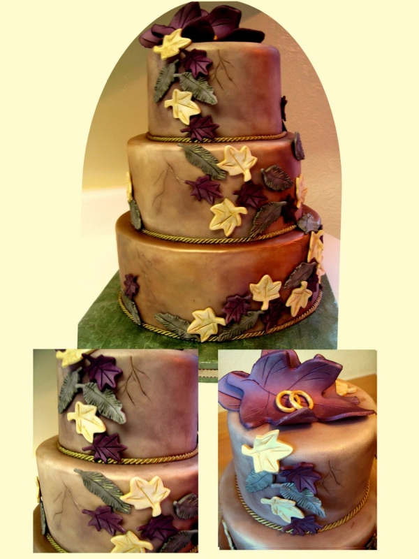 Tuscan Wedding Cake By CakesUnleashed This cake measures 10 8