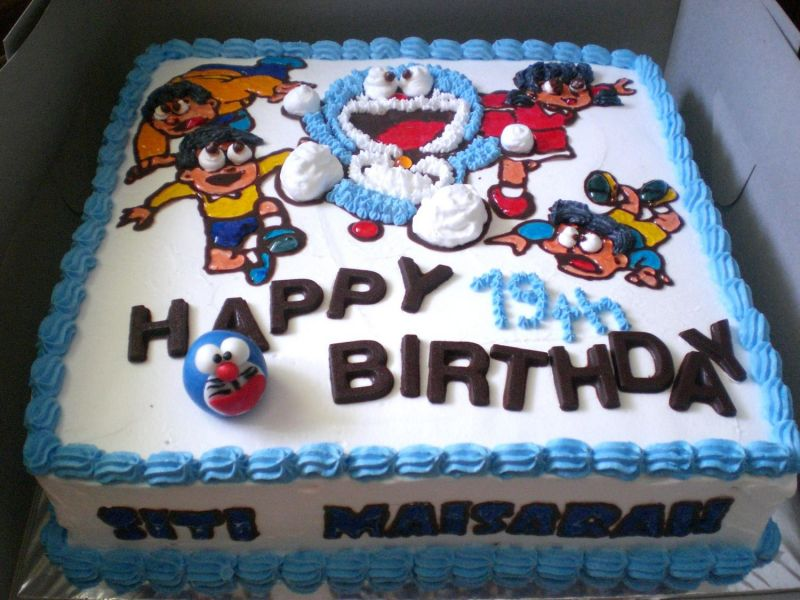 Doraemon Birthday Cake by mid on Cake Central
