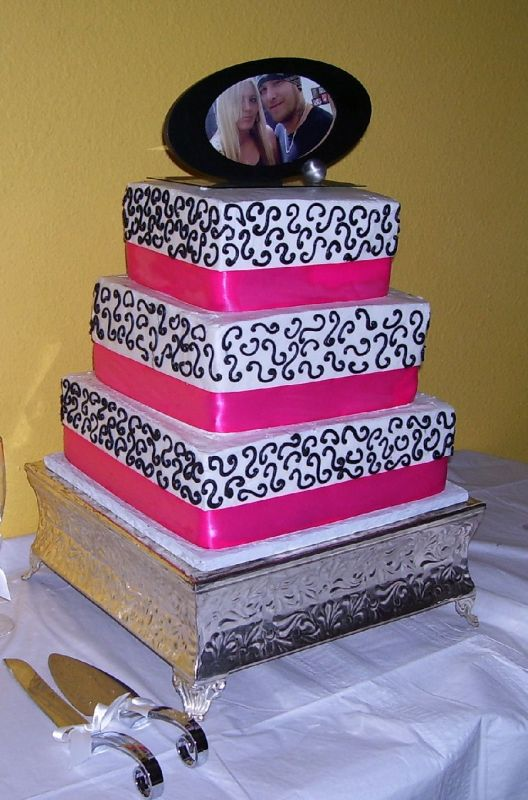 Eliyas Blog Hot Pink And Black Wedding Cake Ideas Pink Black And