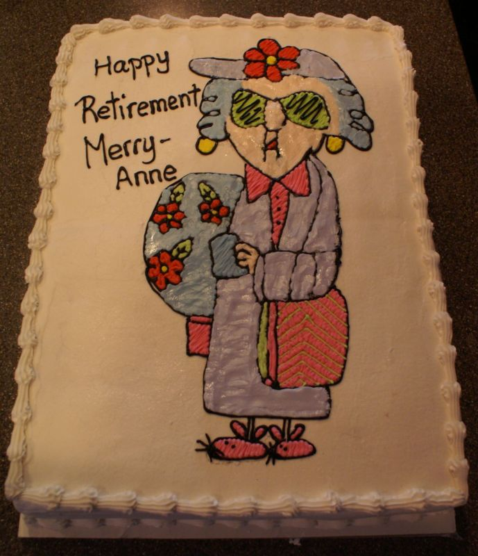 Retirement Cake Clip Art : Maxine Retirement Cake Pictures to Pin on Pinterest ...
