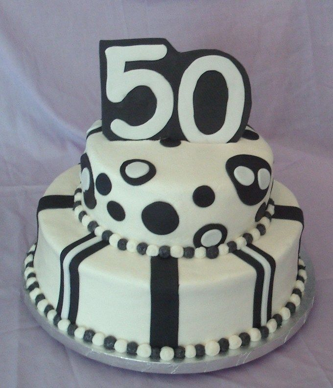 black and white 50th birthday. Uploaded By: Bettycrockermommy