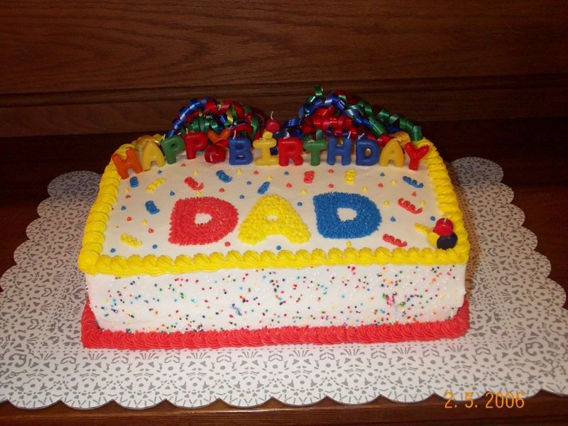 Cake Designs For Father S Birthday : birthday cake for dad