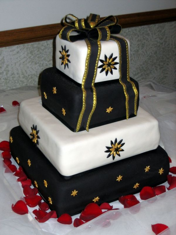 Black Gold Golf Course Wedding Ivory Black and Gold Wedding