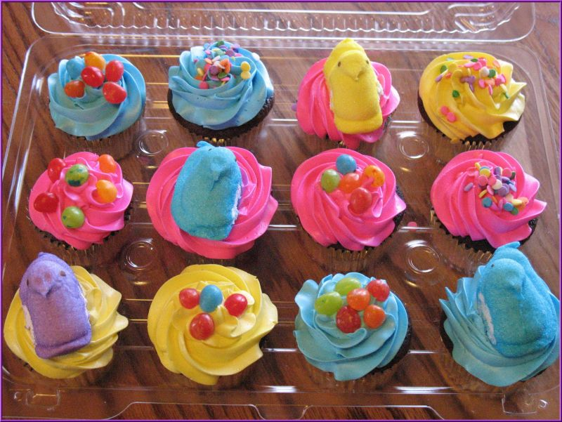 easter cupcakes with peeps. Peeps Easter Cupcakes