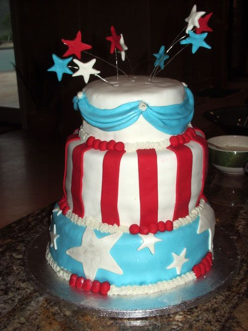 fourth of july cakes. Fourth of July cake